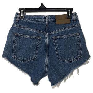 Vintage Calvin Klein high waisted cutoff shorts